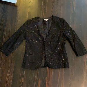 Charter Club • Black Sequined Blazer